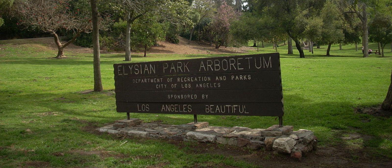 Chavez Ravine Arboretum Sign