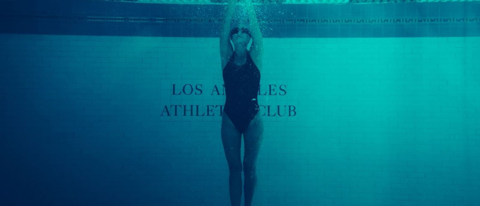 Swimmer at the Los Angeles Athletic Club