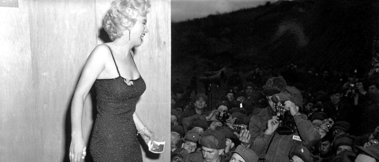 Marilyn Monroe in Korea, after a USO performance (Feb. 17, 1954)