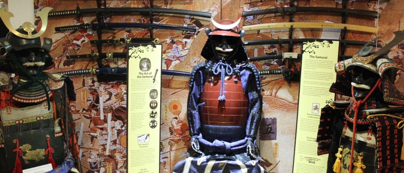 Samurai display at the Martial Arts History Museum