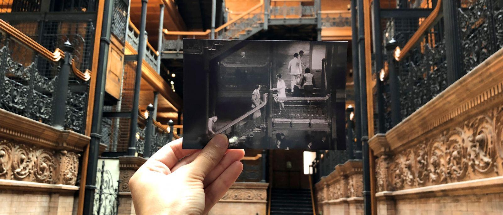 """The Artist"" the Bradbury Building in DTLA"