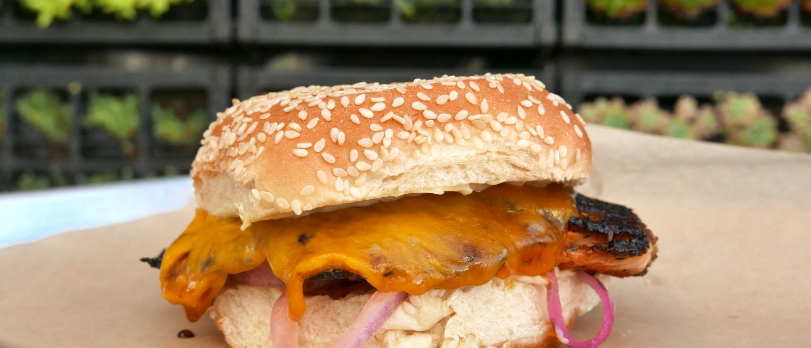 Blackened Salmon Sandwich at Voltaggio STRFSH