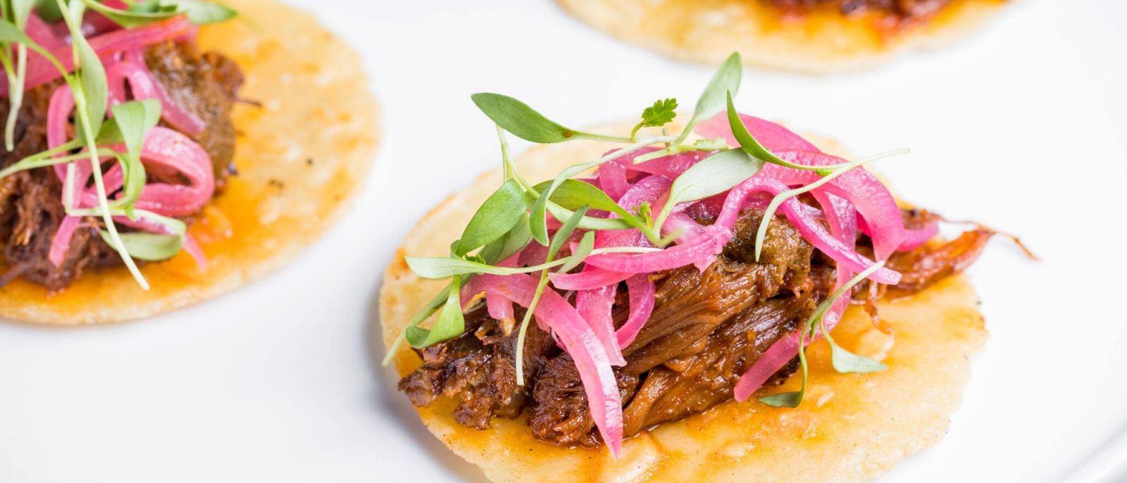 Lamb neck tacos at Woodley Proper