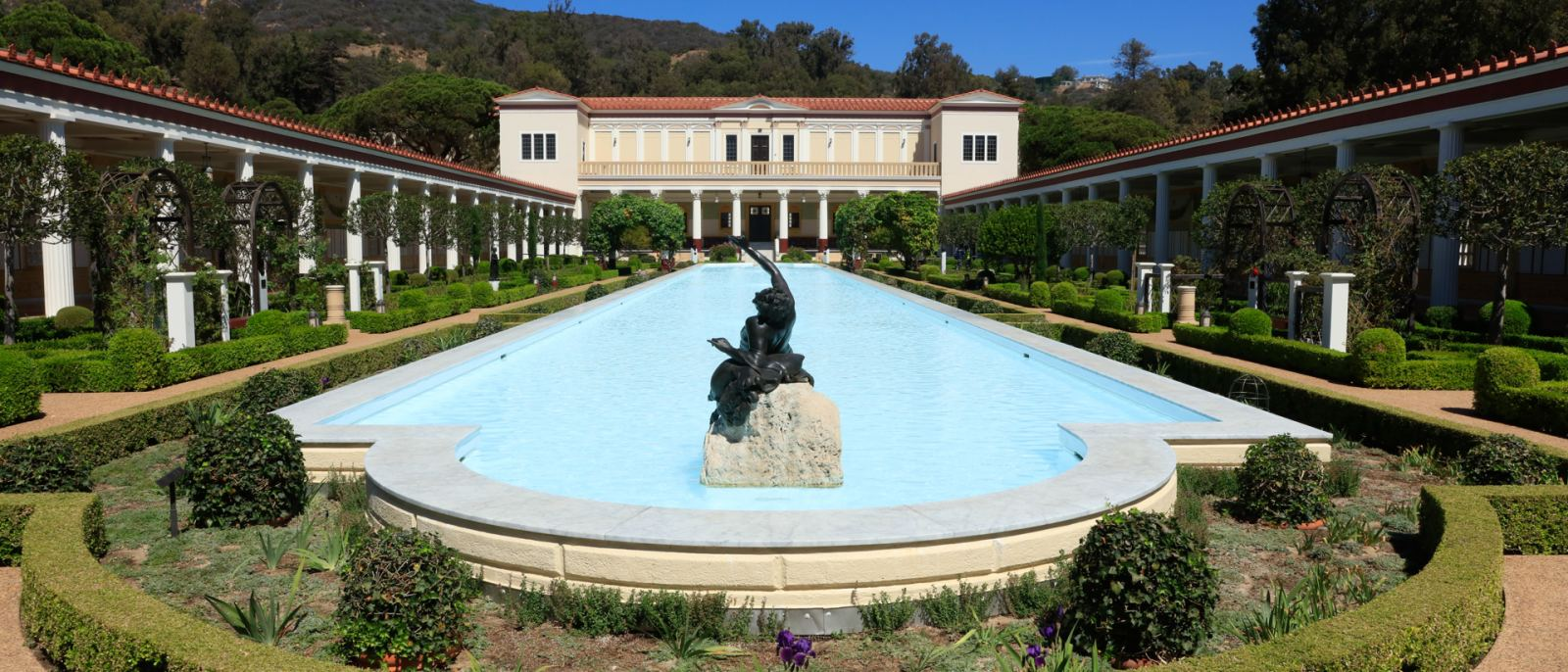 Outer Peristyle Garden at the Getty Villa