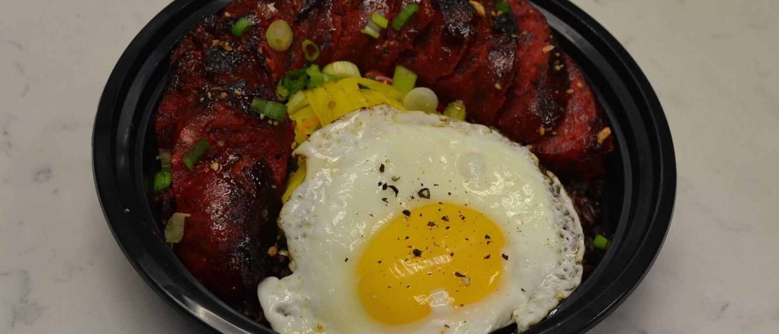 Pork longganisa at RiceBar in DTLA