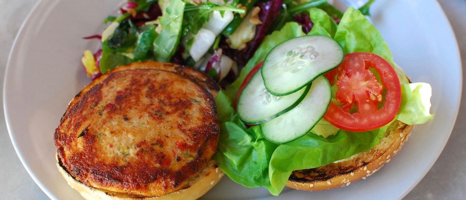 Santa Monica Seafood Spicy Salmon Burger