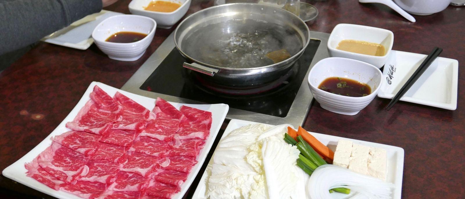 Prime beef flap meat atShin-Sen-Gumi Shabu-Shabu in Gardena