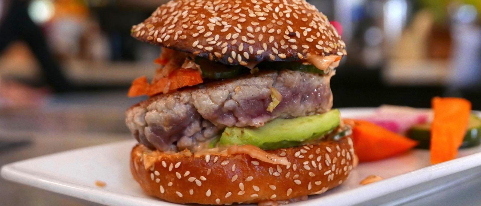 Ahi burger at The Misfit