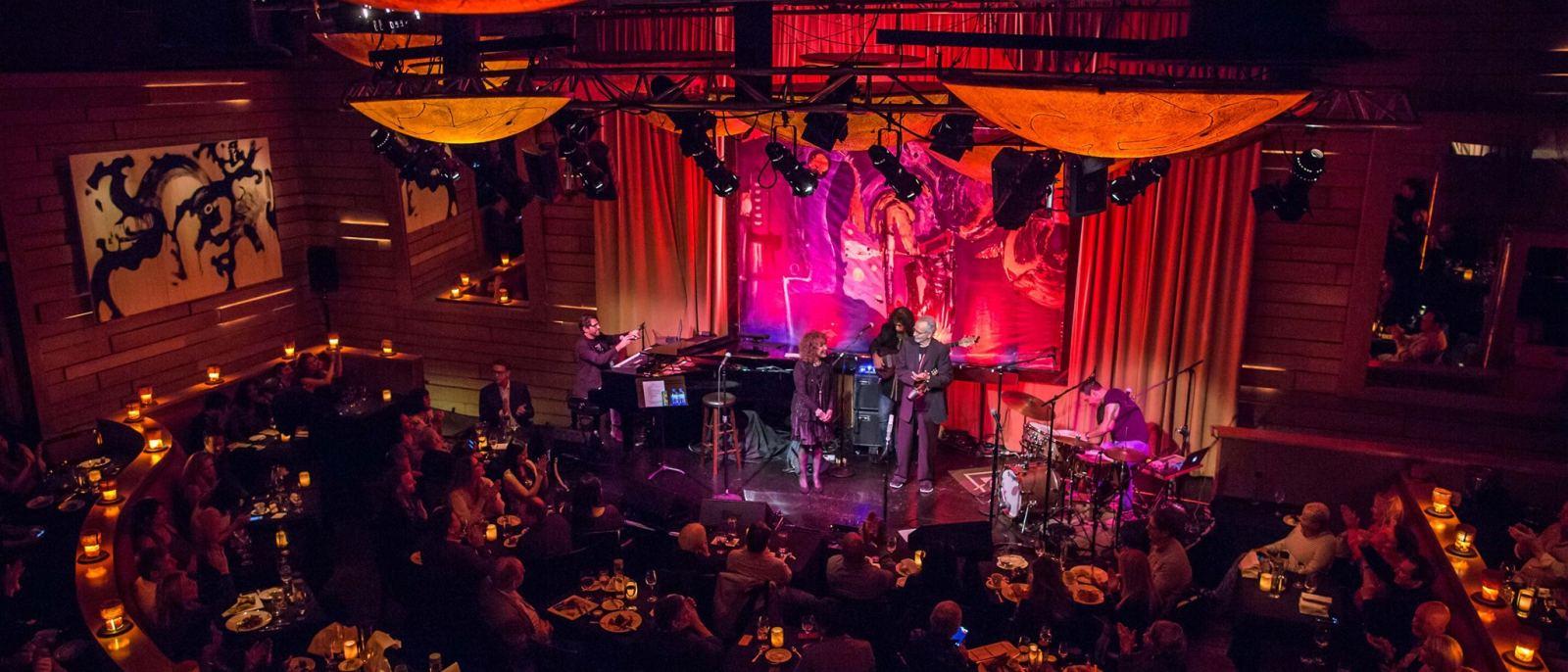 Herb Alpert and Eden Alpert on stage at Vibrato | Photo: Vibrato, Facebook