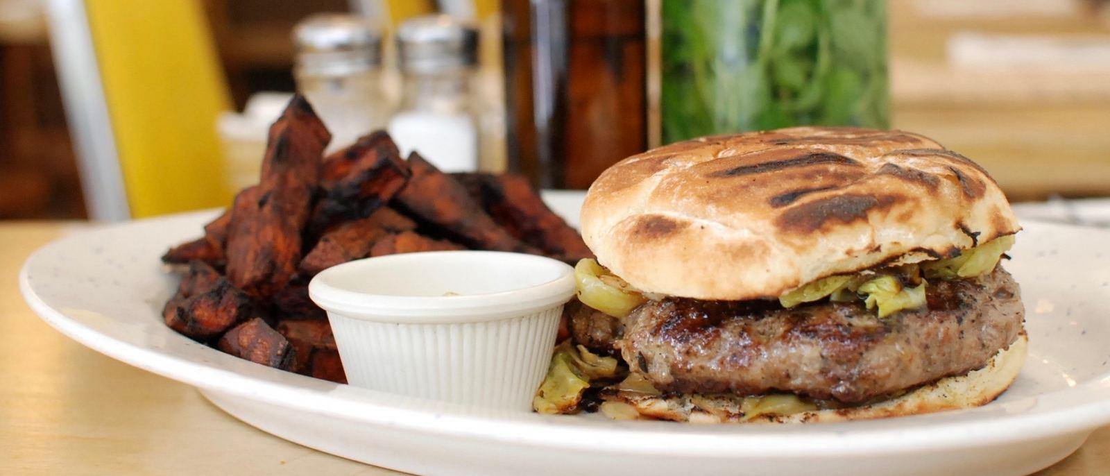 Pork burger at Wood Spoon