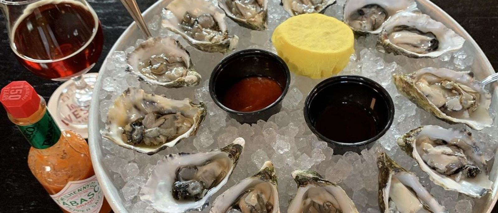 Dozen oysters at Imperial Western Beer Company in DTLA