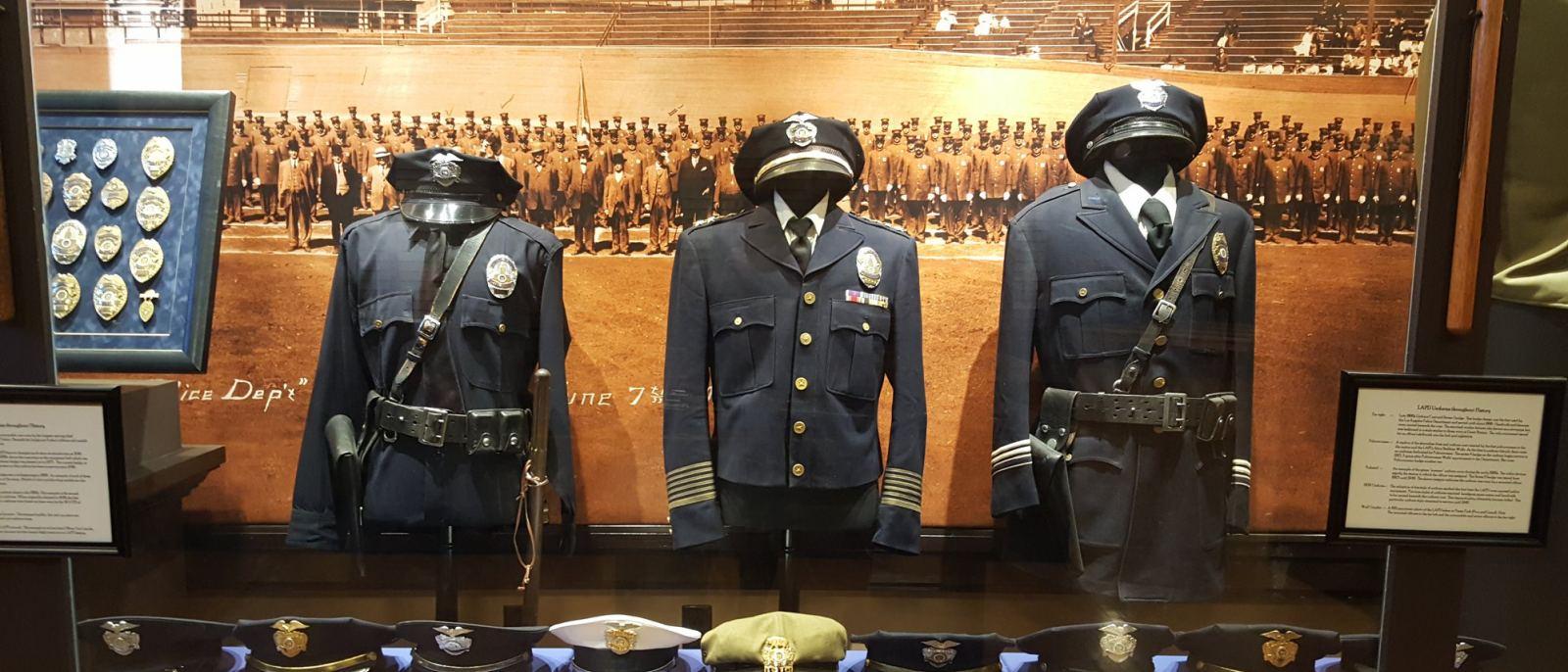 Los Angeles Police Museum uniforms