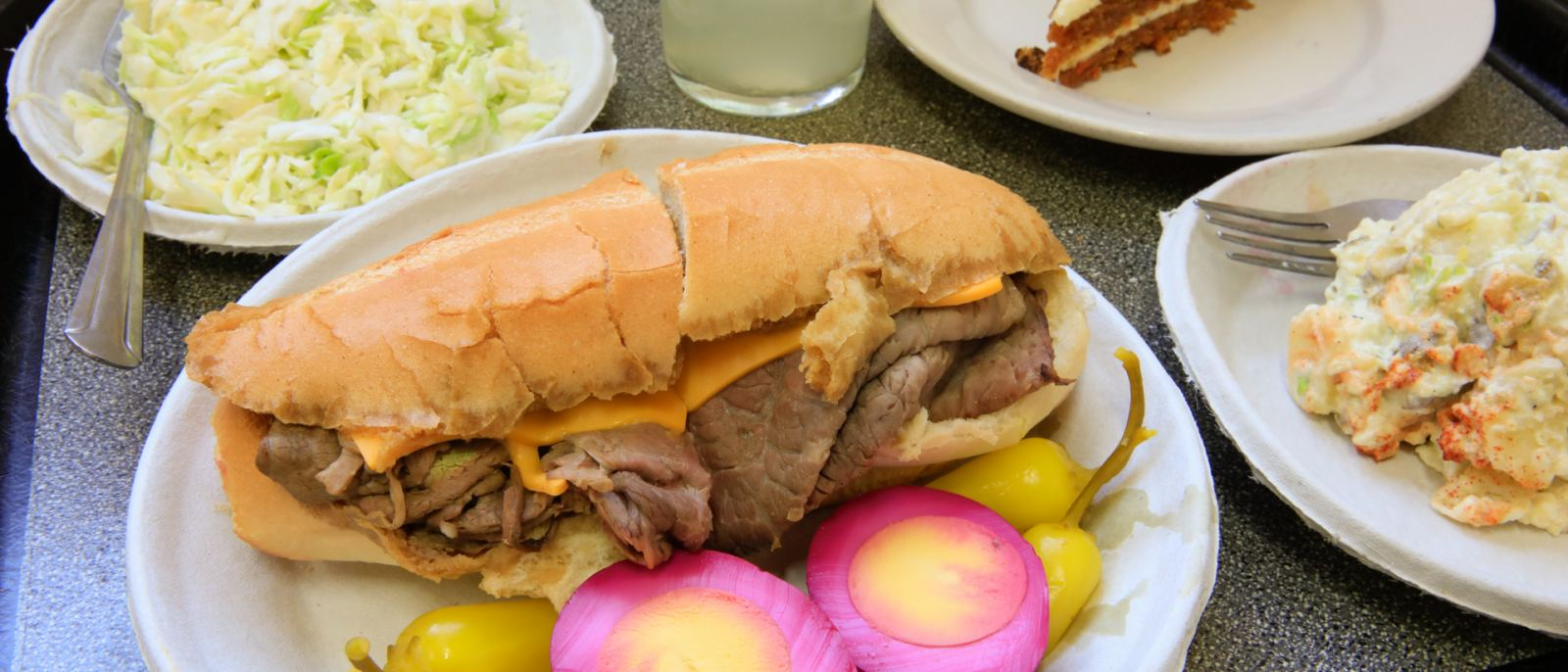 Philippe the Original French Dip pickled eggs