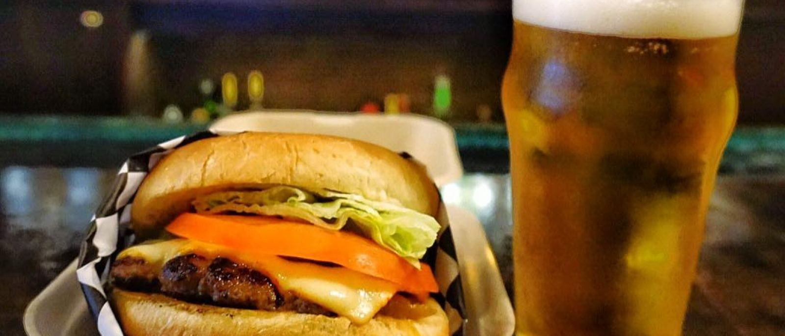 $10 Meatzilla cheeseburger and draft beer combo at Wendell