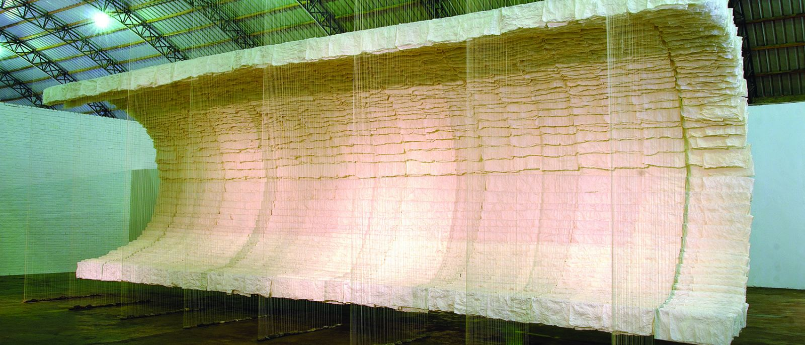 "Zhu Jinshi, ""Wave of Materials,"" 2007"