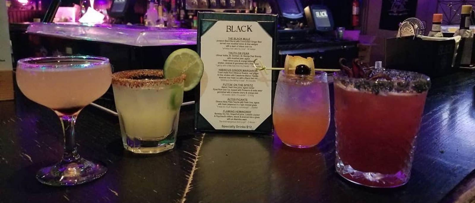 Black Hollywood cocktails