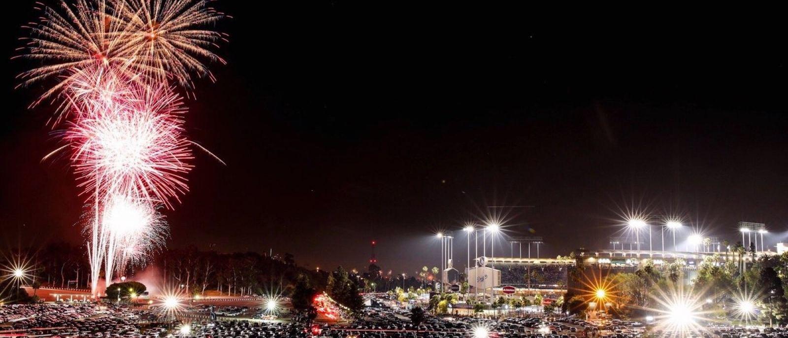 Friday Night Fireworks at Dodger Stadium