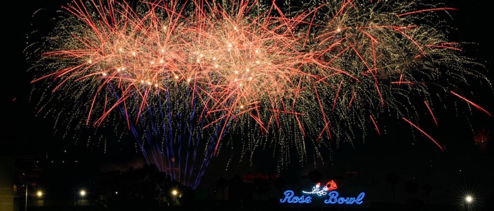 Americafest fireworks at Rose Bowl Stadium