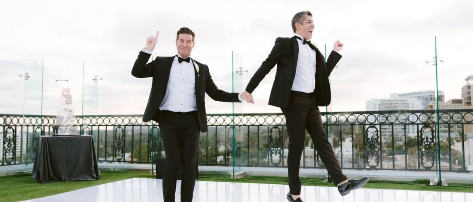 The London West Hollywood wedding gay couple