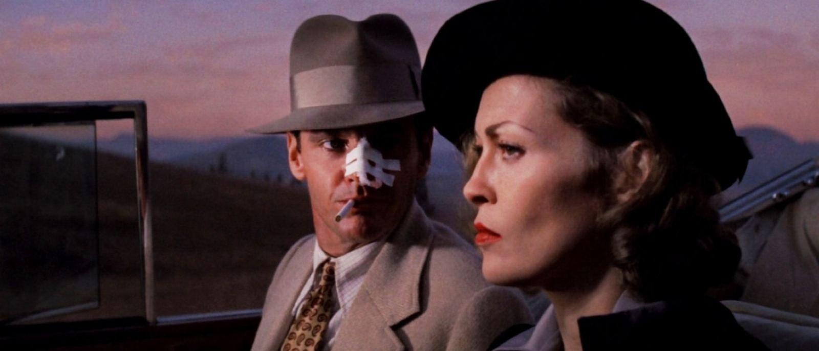 """Jack Nicholson and Faye Dunaway in """"Chinatown"""" (1974)"""