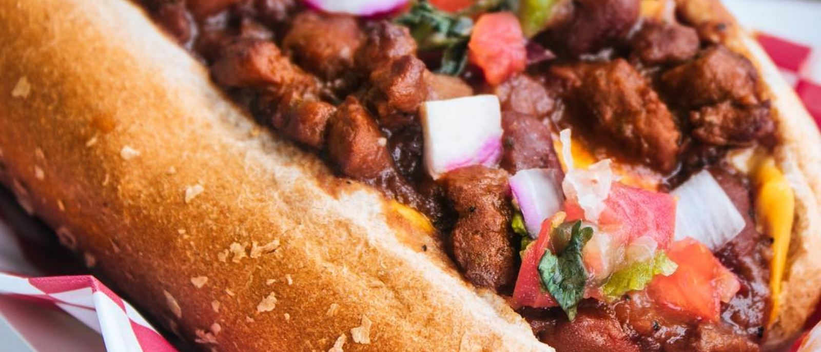 Vegan Chili Cheese Dog at Earle's on Crenshaw