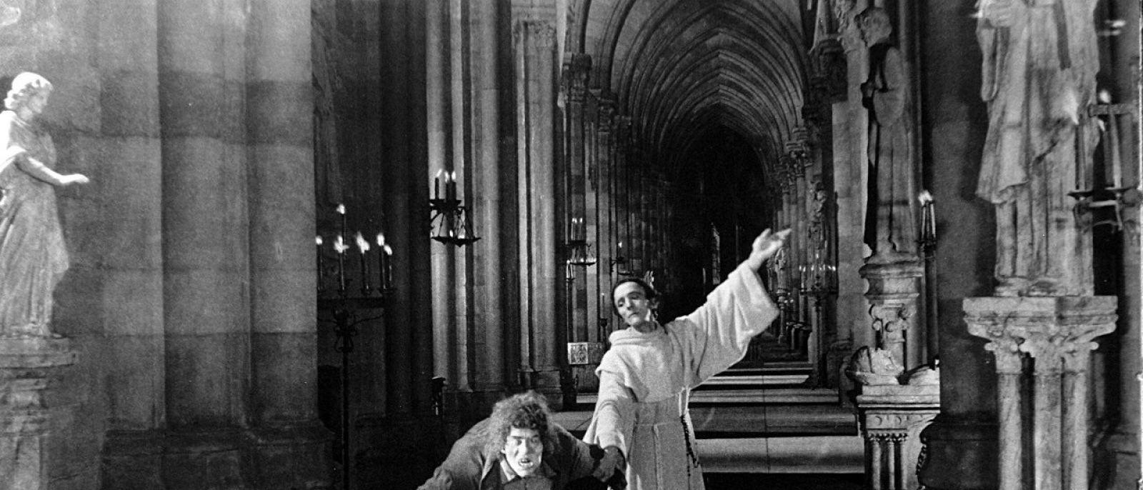 "Lon Chaney and Nigel De Brulier in ""The Hunchback of Notre Dame"" (1923)"