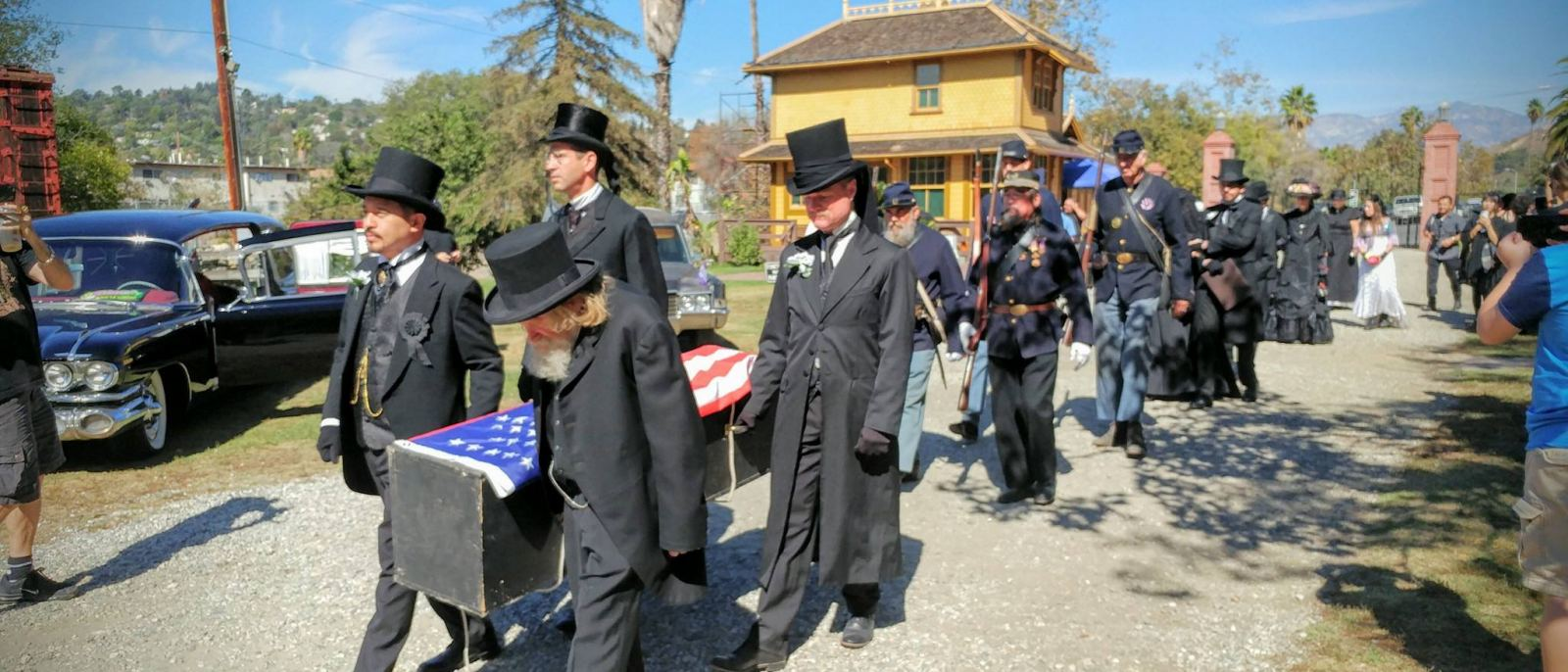 Funeral procession at Halloween & Mourning Tours | Photo: Heritage Square Museum, Facebook