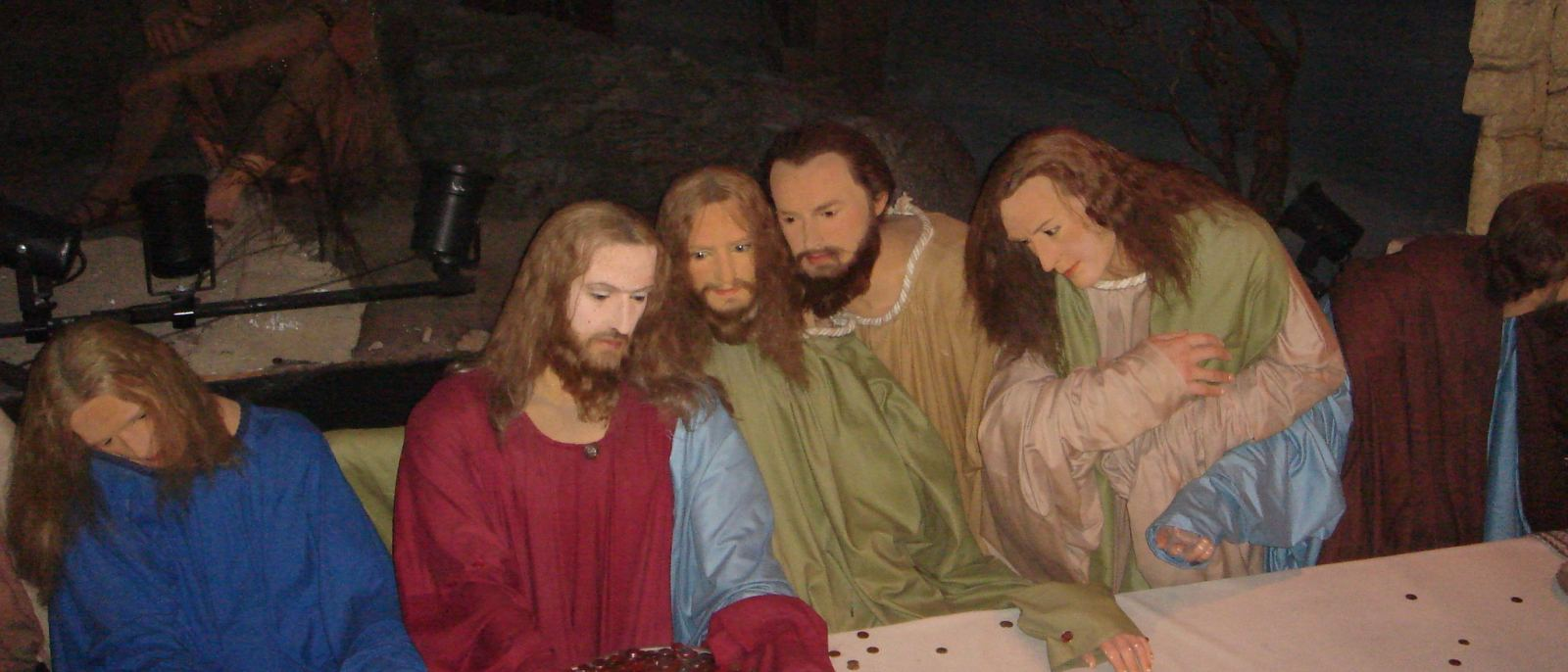 """The Last Supper"" at Hollywood Wax Museum 