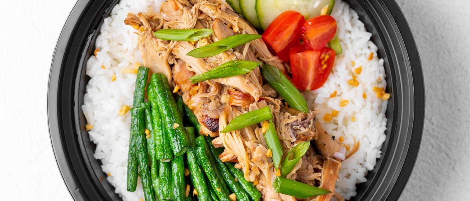 Chicken Adobo Bowl at HiFi Kitchen in Historic Filipinotown