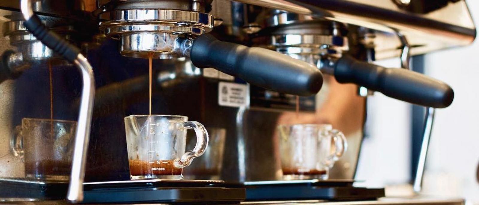 Espresso Machine at Tactile Coffee in Historic Filipinotown