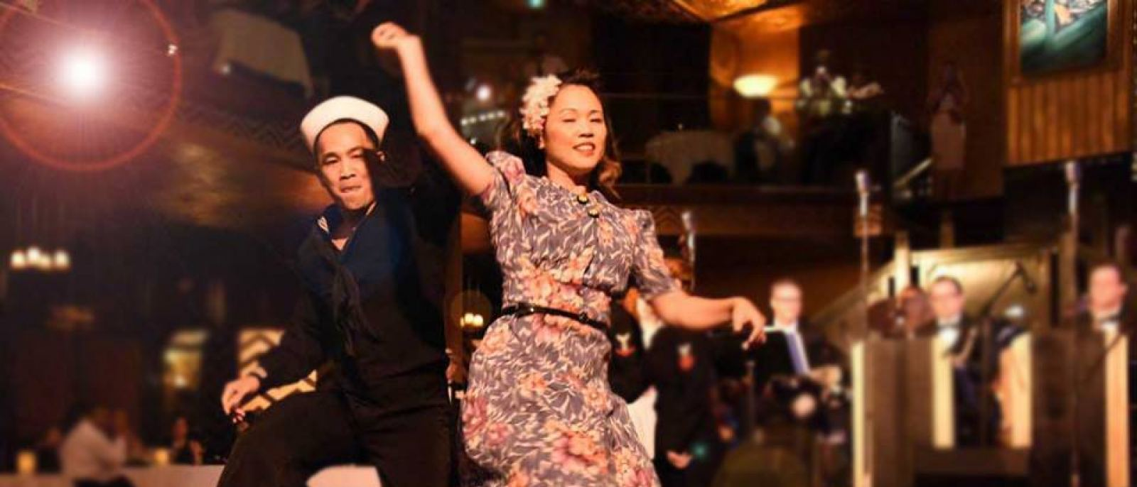 Swing dancers at Cicada Club in Downtown LA