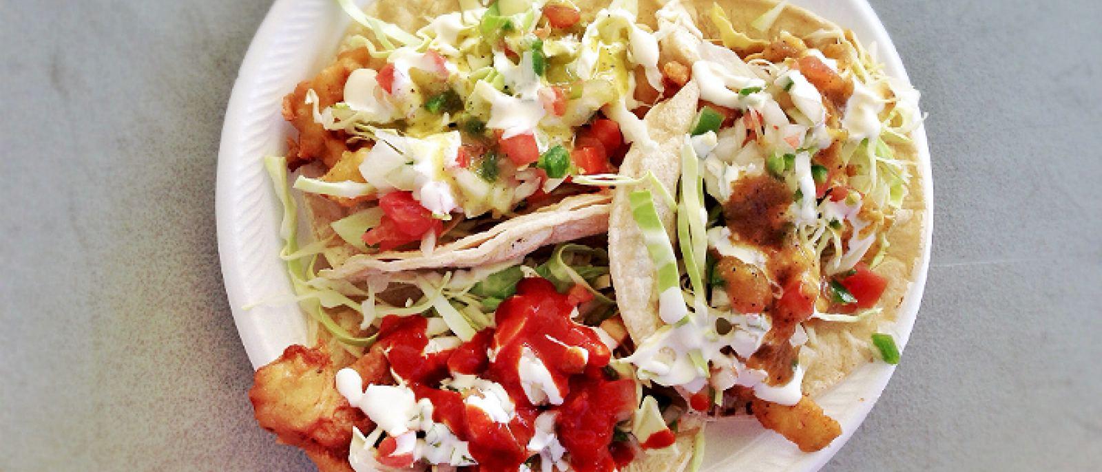 Fish and shrimp tacos at Ricky's Fish Tacos   Photo courtesy of T.Tseng, Flick