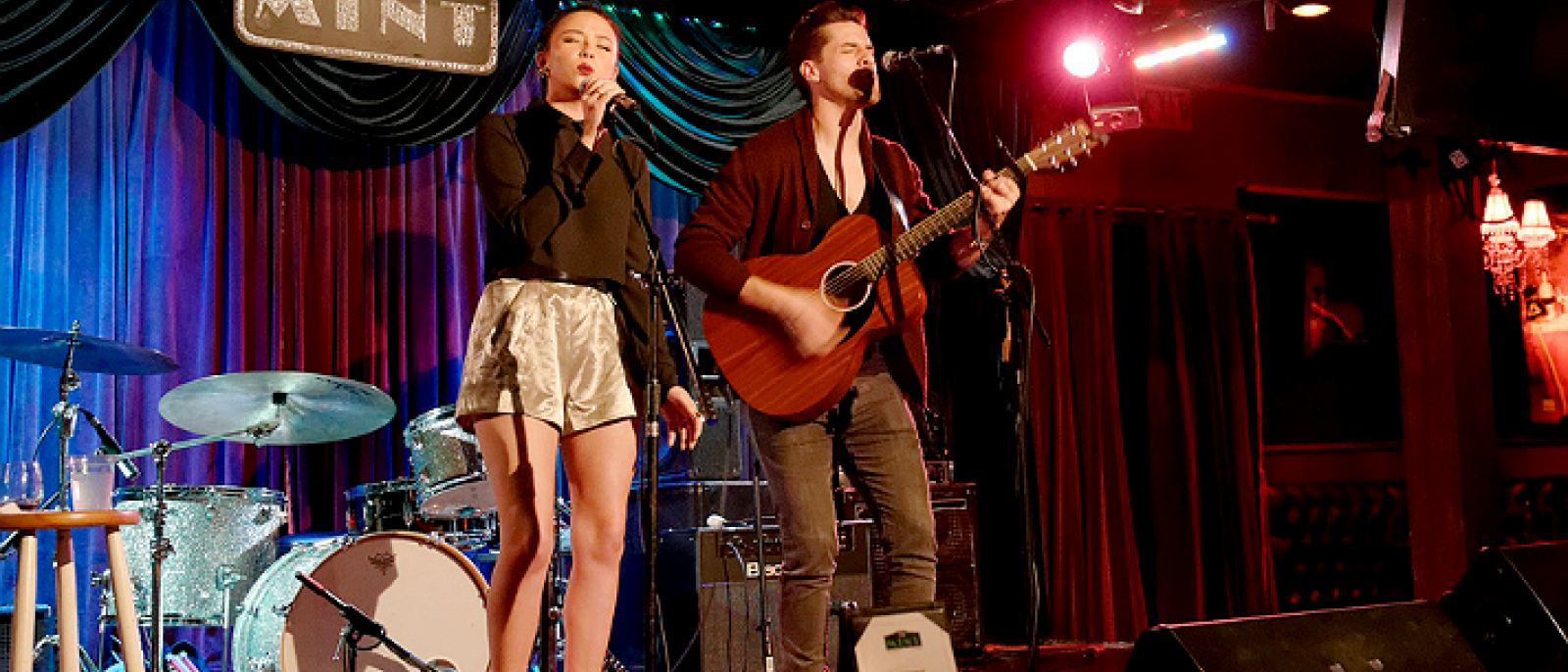 Malese Jow and Austin Charles at The Mint | Photo courtesy of Justin Higuchi, Flickr