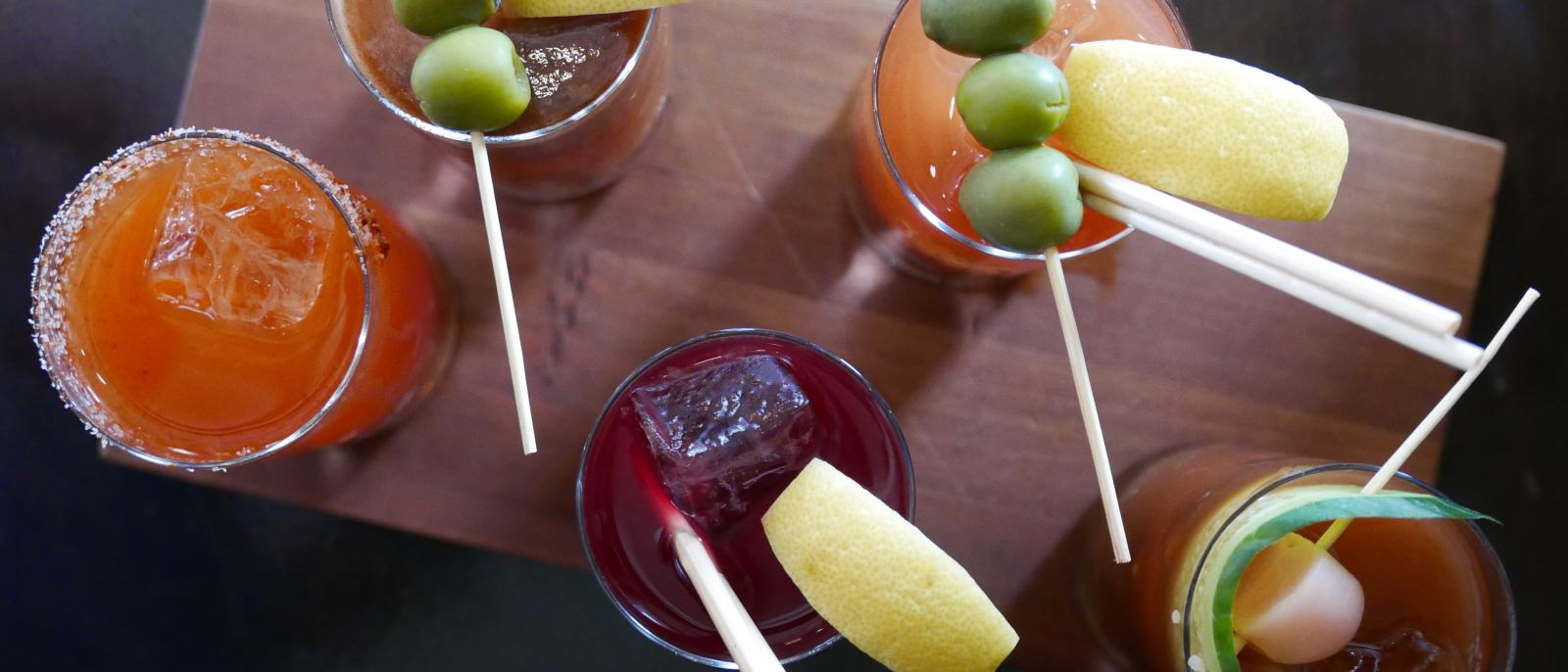 Bloody Mary flight at The NoMad Hotel Los Angeles