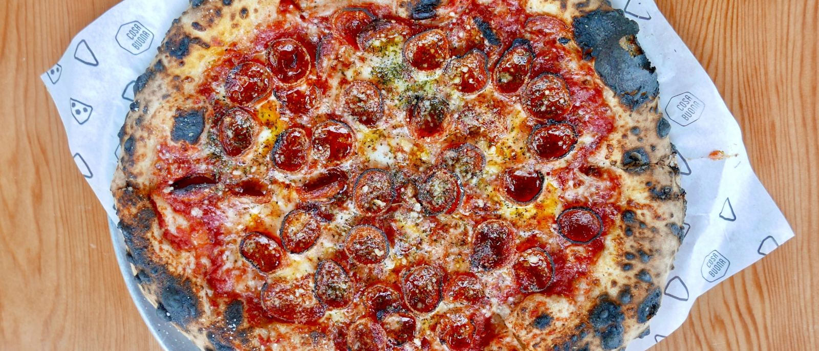 Pepperoni pizza at Cosa Buona | Photo: Joshua Lurie