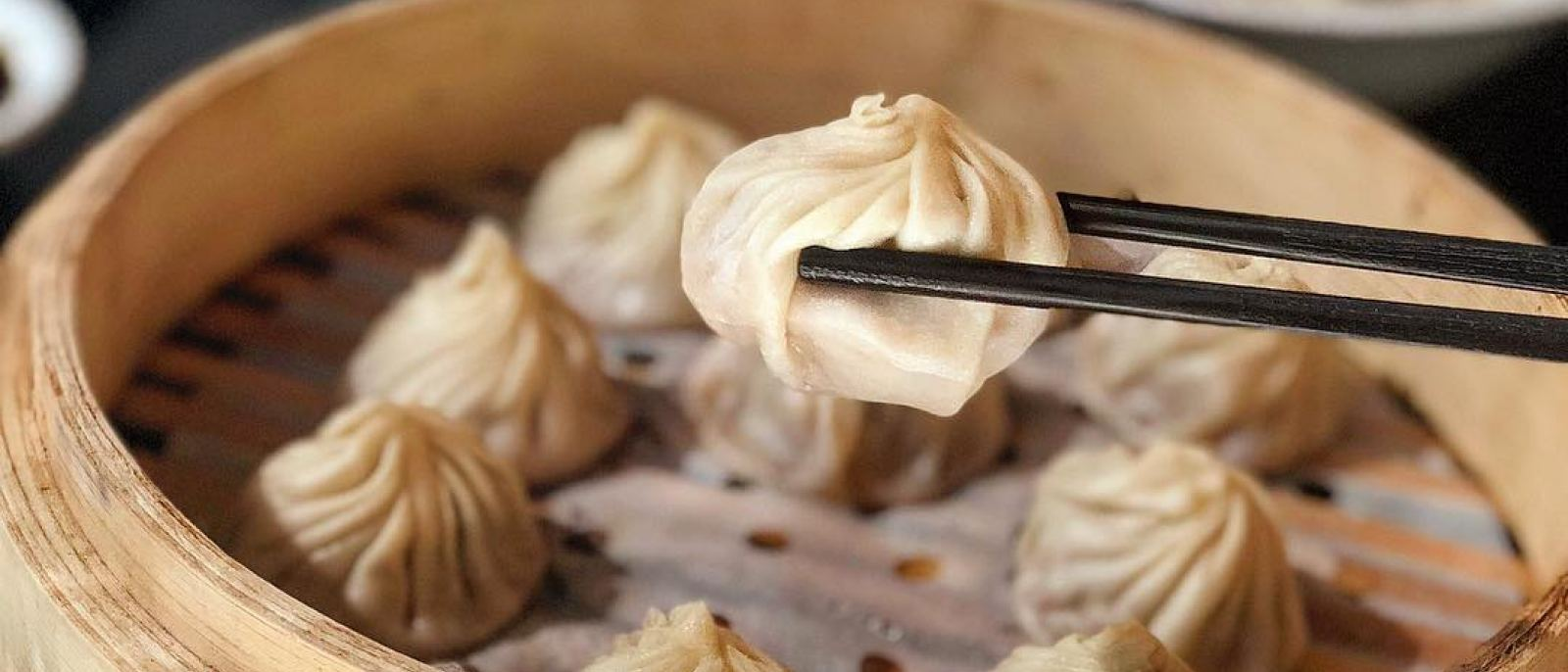 Pork & shrimp xiao long bao at Din Tai Fung Westfield Century City   Instagram by @_hungrybabe_