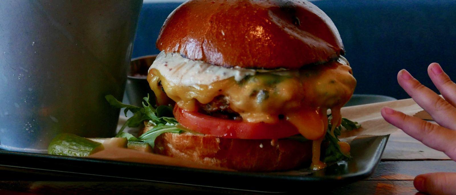 Chicken burger at Doma Kitchen