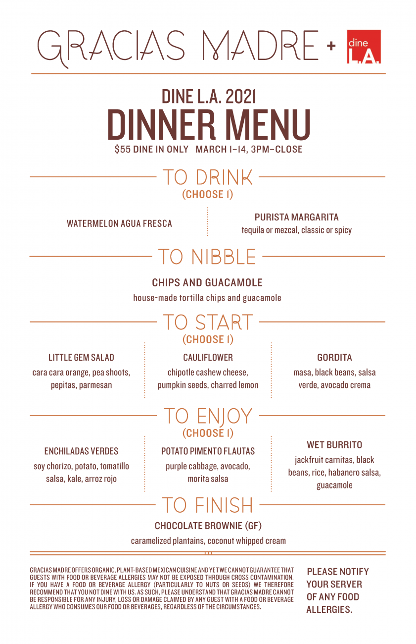 Image for Dinner Menu