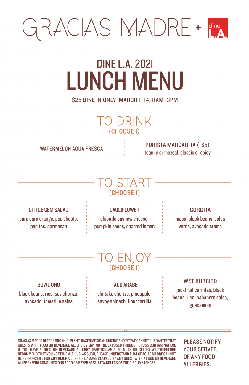 Image for Lunch Menu
