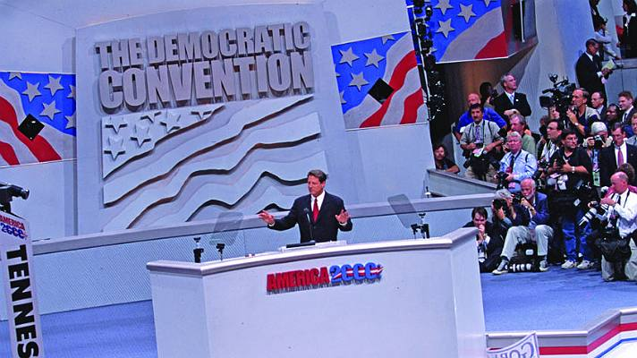 Al Gore at the 2000 Democratic National Convention | Photo courtesy of STAPLES Center/Bernstein Associates