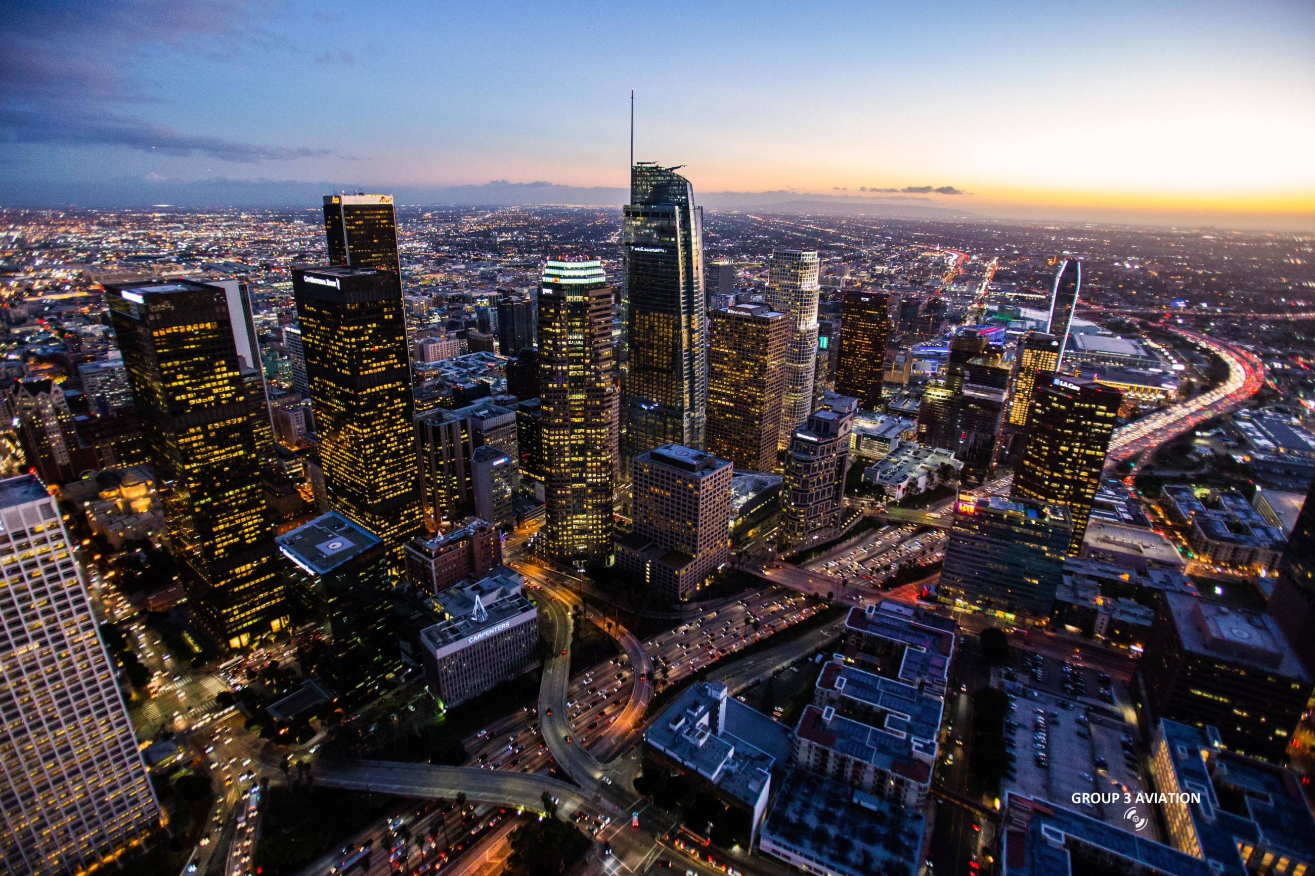 Above Downtown LA