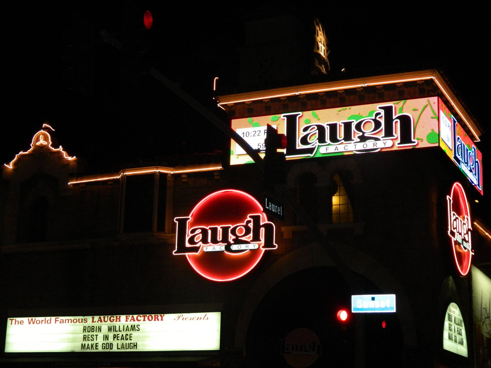 Laugh Factory Exterior Night