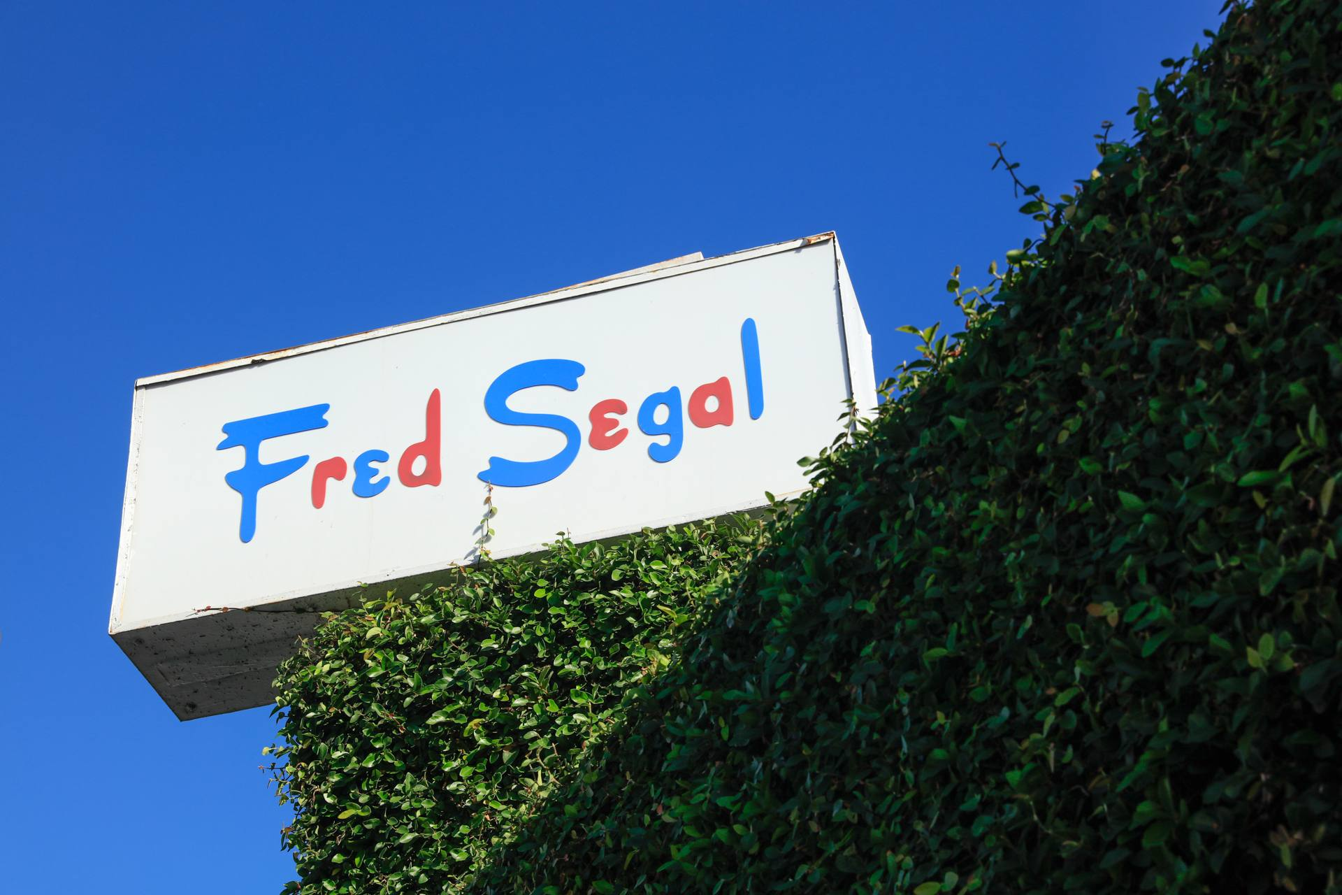 Fred Segal sign at Melrose Avenue and Crescent Heights
