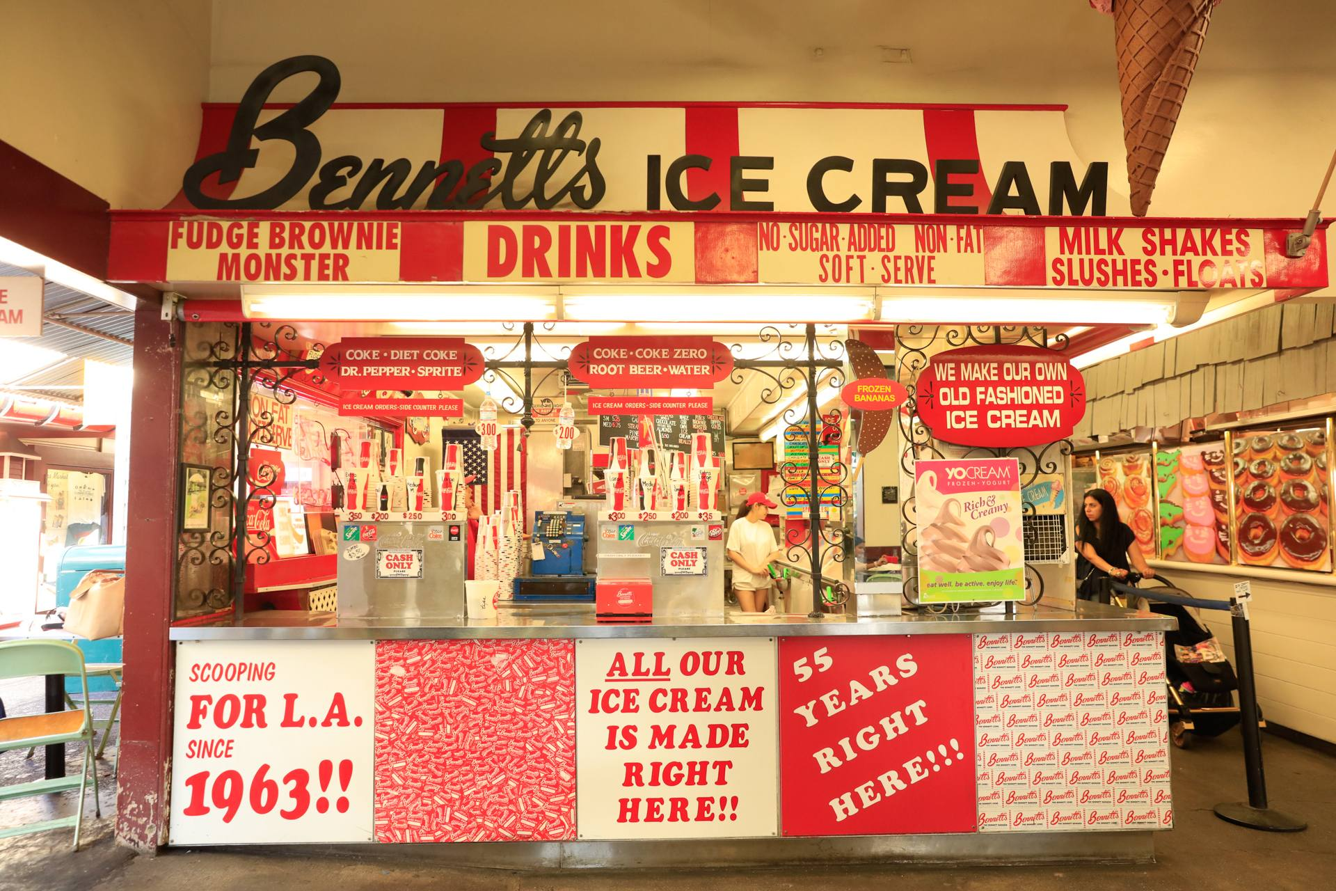 Bennett's Ice Cream at the Original Farmers Market | Photo: Callan Koening