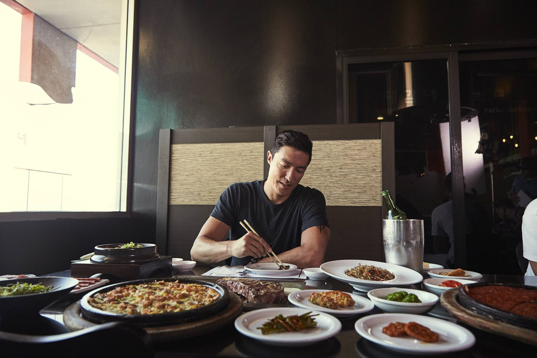 Daniel Henney at Park's BBQ