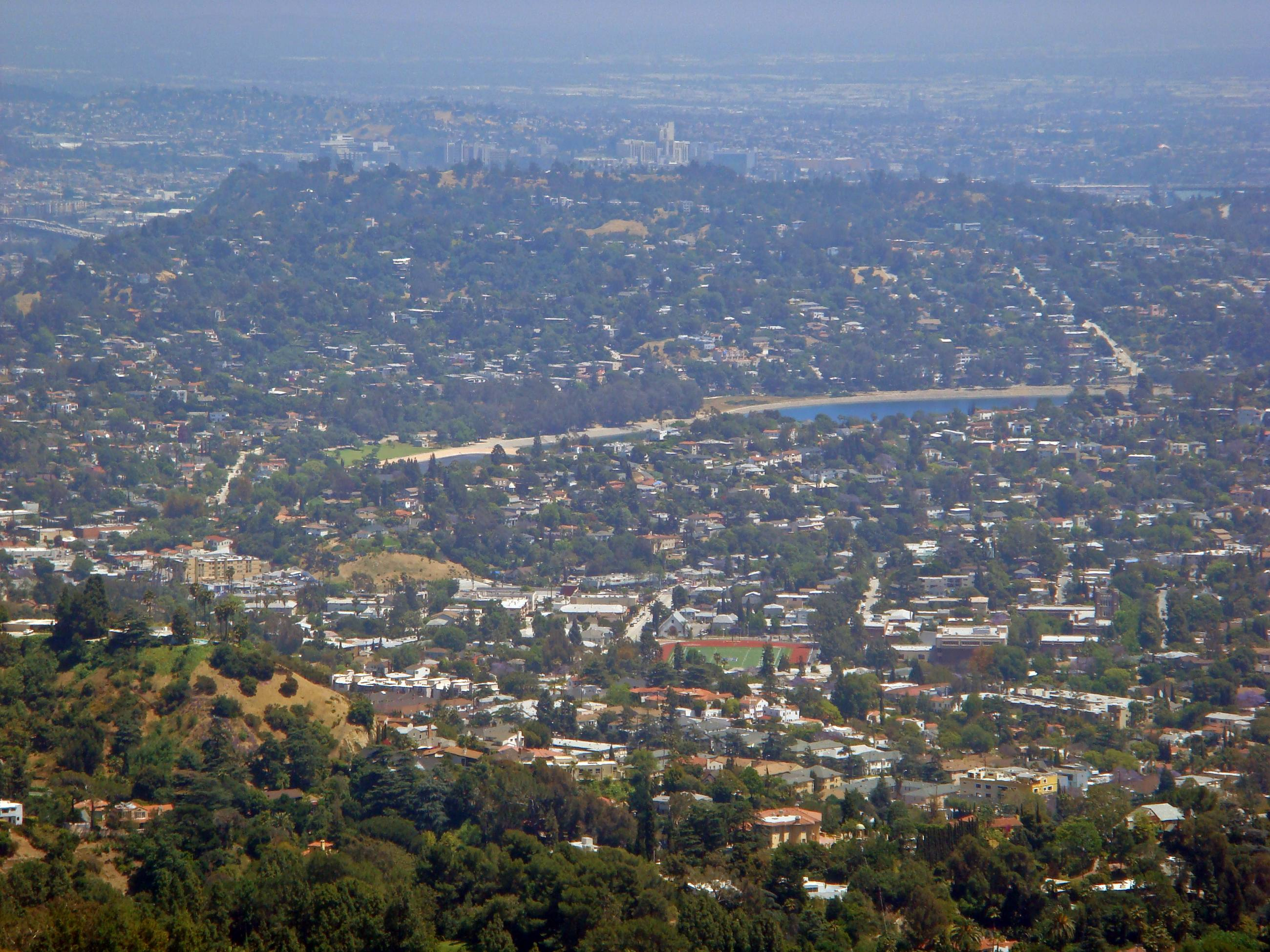 Silver Lake viewed from Mount Hollywood
