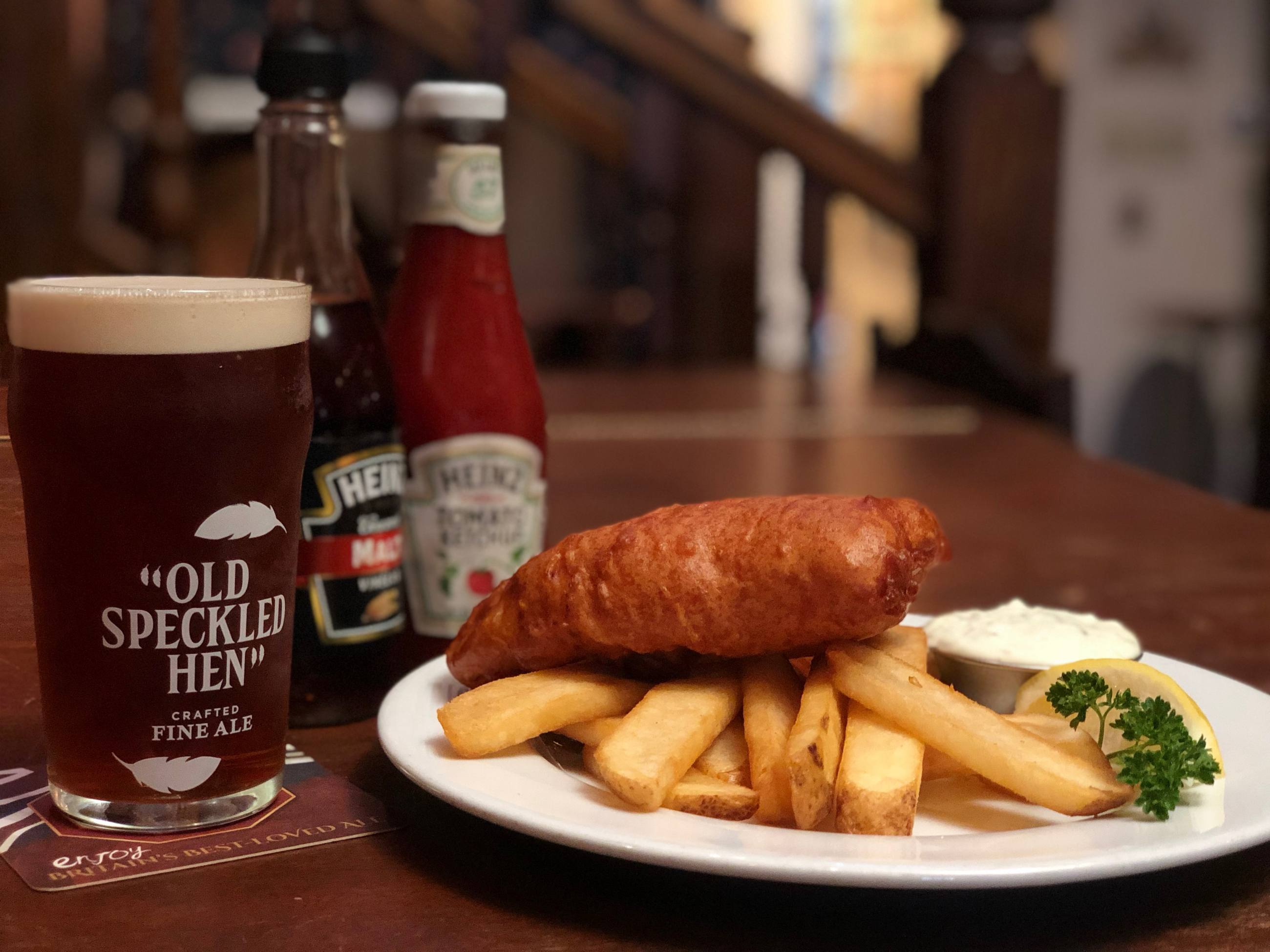 Whale & Ale San Pedro Fish and Chips Beer