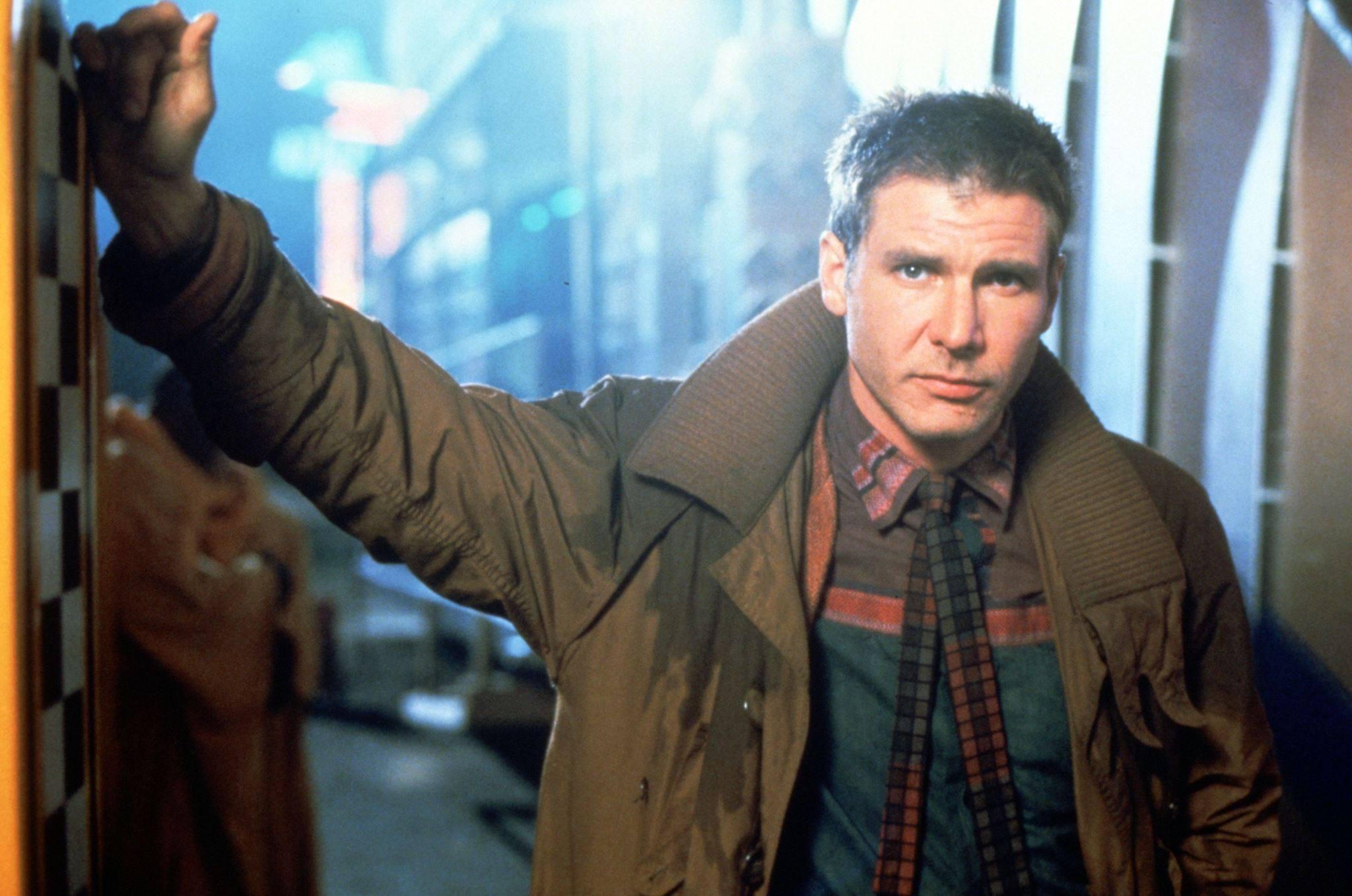 "Harrison Ford as Rick Deckard in ""Blade Runner"" (1982)"