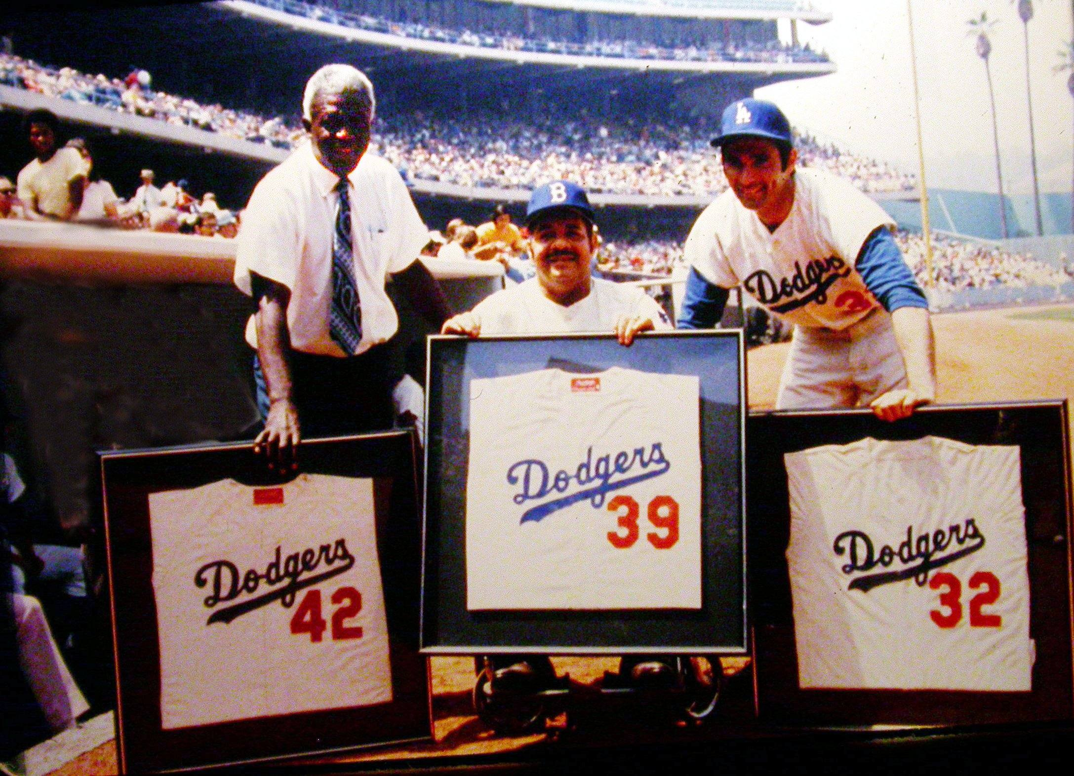 Dodgers retire the numbers of Jackie Robinson, Roy Campanella, Sandy Koufax