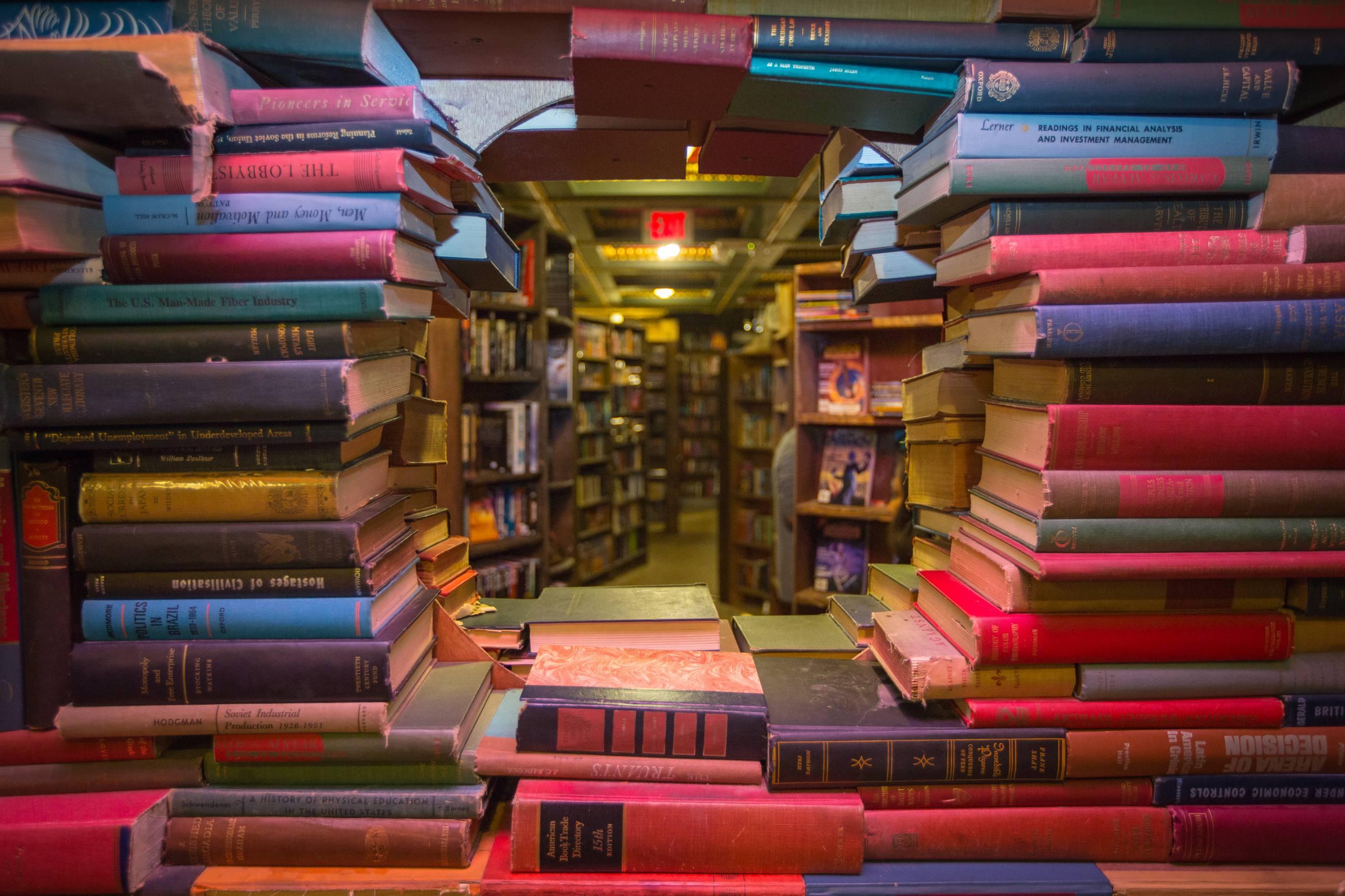 The Last Bookstore Book Tunnel